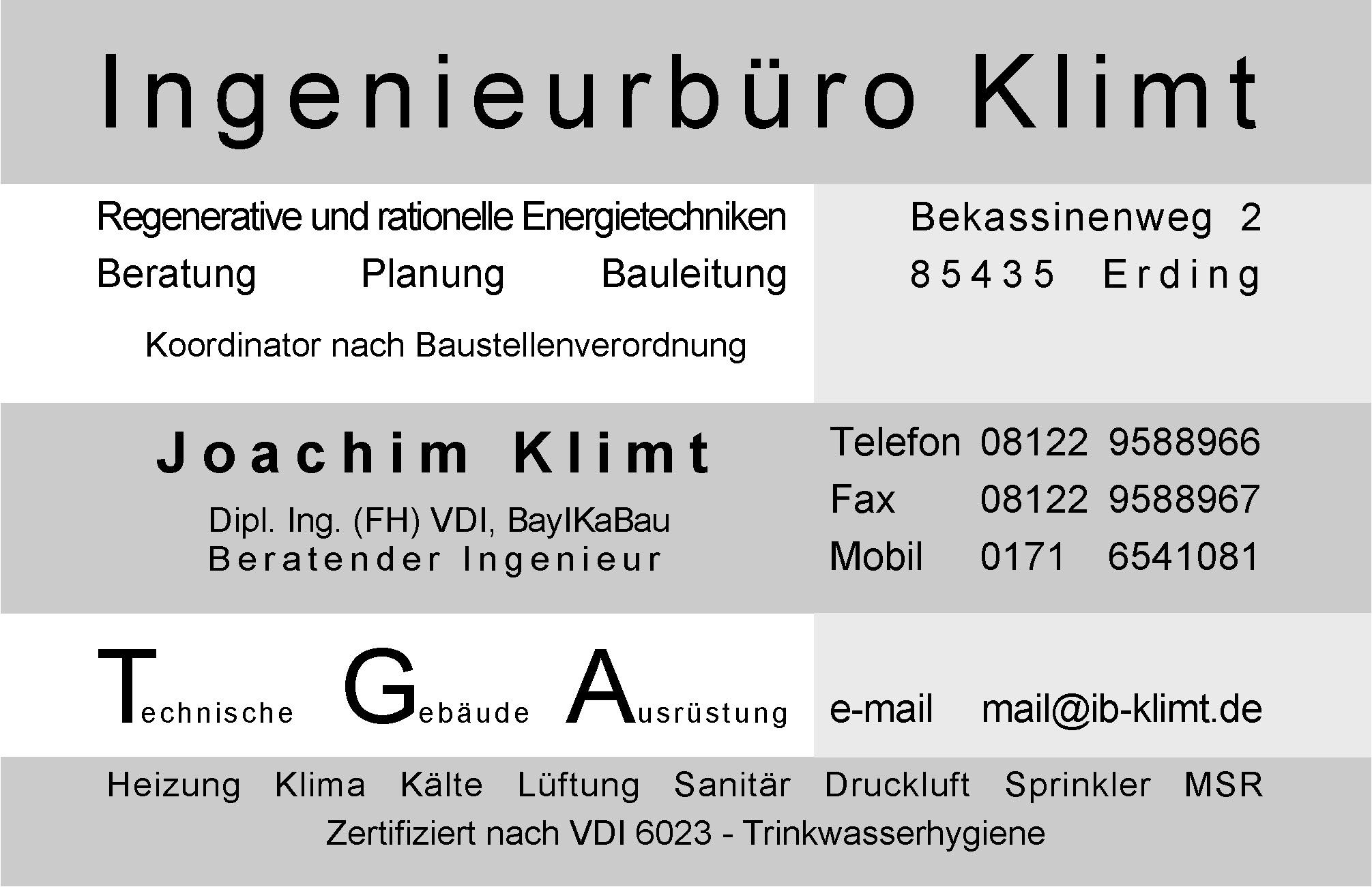 Ingenieurbüro Klimt Herzlich Willkommen